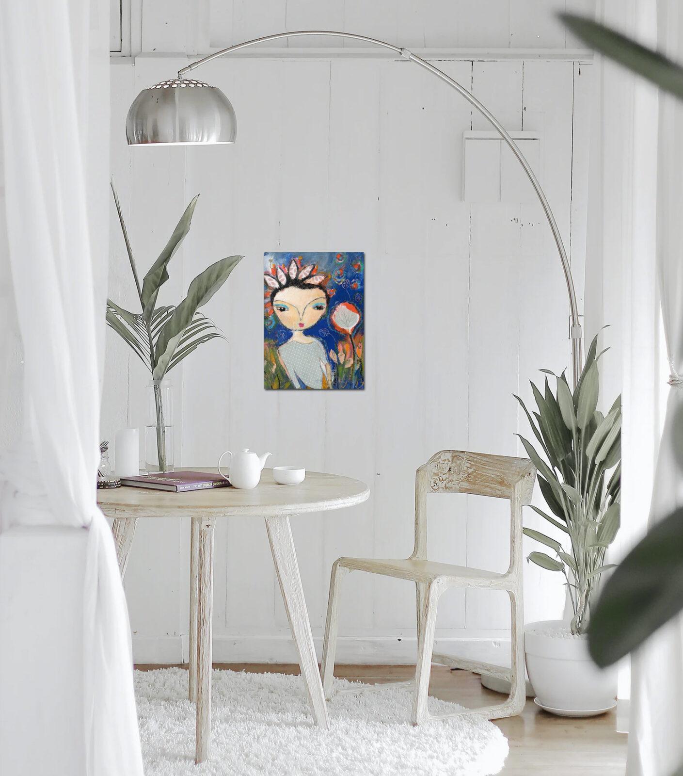 """""""Im Garten"""" Malerei 24x18 cm"""