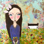 Blütenmeer 30x30 cm Original Malerei